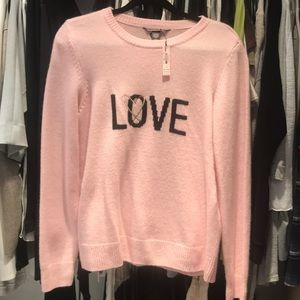 "Pink Victoria Secret ""Love"" sweater! Brand new!!"